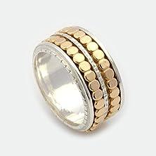 buy Unisex Spinner Ring, Silver Spinner Ring, Gold Spinner Ring, Spinner Ring, Spinning Ring, Worry Ring, Fidget Ring, Meditation Ring Mr1940Gf