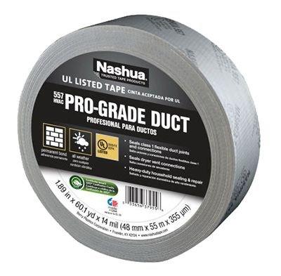 Nashua 557 Premium Grade Flex Duct Tape: 2 in. x 60 yds. (Metallic) (Ac Duct Tape compare prices)