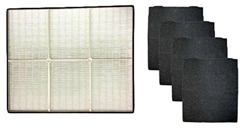 1 X Whirlpool 1183054K (1183054) HEPA Filter + 4 Pre-Carbon Filters-- Fits Whispure Air Purifier Models AP450 and AP510 AP45030HO; Replaces Whirlpool Part # 1183054, 1183054K, 1183054K Large, 1183054K Grand Format- Aftermarket Filter