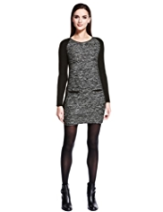 Autograph Bouclé Bodycon Dress with Wool