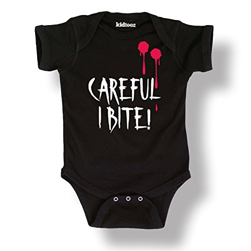 Careful I Bite Vampire Baby One Piece