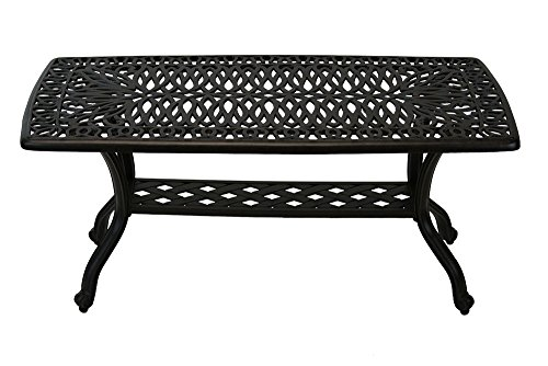 "Heritage Outdoor Living Elisabeth Cast Aluminum 21""X42"" Outdoor Patio Coffee Table"
