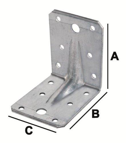 Winkelverbinder mit Steg 105x105x90x3mm
