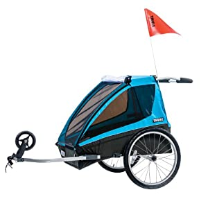Thule Coaster2+ Bicycle Trailer Stroll, Blue by Thule