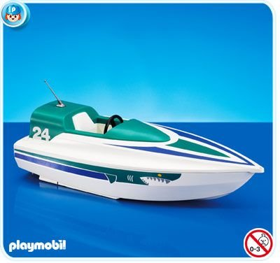White Speedboat