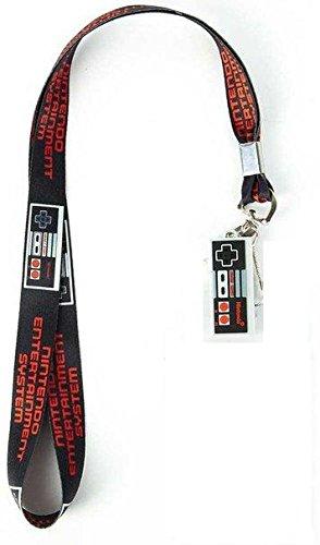 Nintendo NES Classic Controller Lanyard Necklace Keychain Charm ID Badge Holder