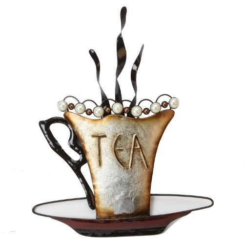 Tea - Metal Wall Art, from Juliana Home Living. A decorative, modern, metal wall plate, ideal gift for the home, cafe, or restaurant (MWA810).
