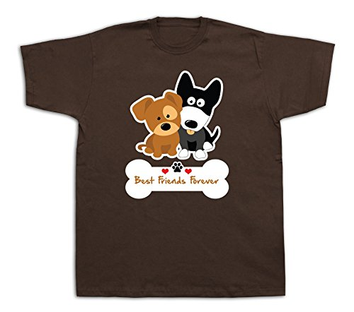 New Mens cotton T-shirt print Best Friend forever dog pet funny Graphic design