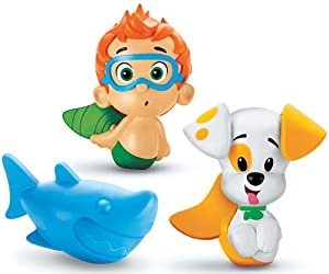 Fisher-Price Nickelodeon's Bubble Guppies Bath Squirters: Nonny, Bubble Puppy and Shark
