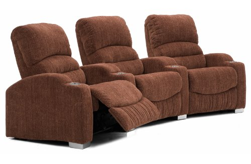 Vallero Home Theater Seating (3 Seat Curved)