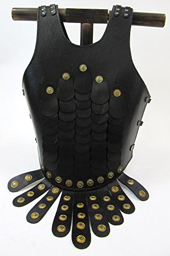 Leather Roman Chest Plate Scales And Brass Rivets - Breast Plate Replica