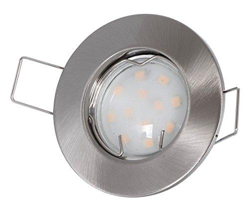 Einbaustrahler-Set-230Volt-3Watt-GU10-Leuchtmittel-warmweiss-kleiner-Spot-60mm-Lochma-40-45mm