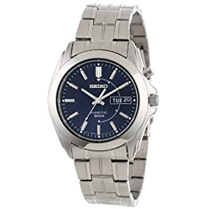 Đồng Hồ Nam Seiko  SMY111 Stainless Steel Kinetic Blue Dial Watch