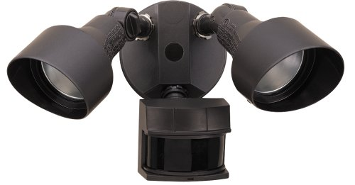 Heath Zenith SL-5597-BZ-E 200-Watt Quartz Halogen Motion-Sensing Twin Security Light, Bronze