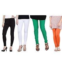 Shiva collections Black/white/green/orangecotton legging