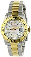 "Invicta Women's 6895 ""Pro-Diver"" Stainless Steel, 18k Yellow Gold Plating, and Mother-of-Pearl Bracelet Watch from Invicta"