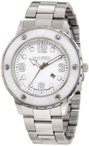 Haurex Italy 7D371DWW - Reloj para mujeres, correa de acero inoxidable color plateado