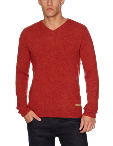 Selected Homme Jeans Oliver V-Neck Men's Jumper Burnt Henna Small