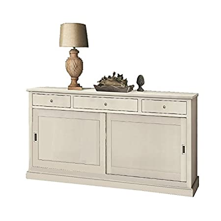 Sideboard 2 doors, classic style, solid wood and MDF - Meas. 200X50X90H 100% made in italy