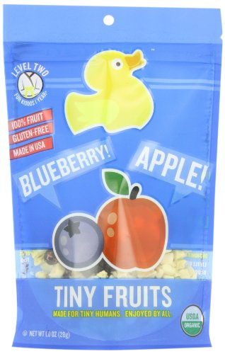 Little Duck Organics Tiny Fruits, Blueberry & Apple, 1-Ounce Pouches (Pack of 9)