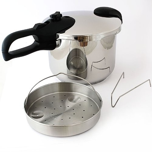 Pentola a pressione cuocivapore 6 litri acciaio inossidabile