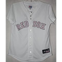 Dustin Pedroia Boston Red Sox Majestic Ladies Pink Jersey