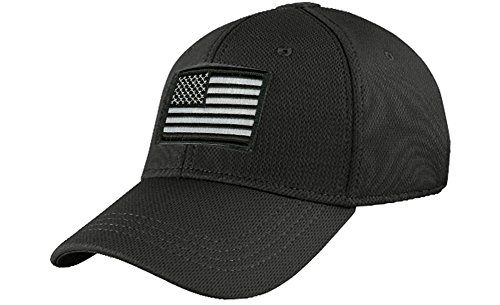Condor Fitted Tactical Cap Bundle (USA/DTOM Patches) - Black S/M (Fitted Hats compare prices)