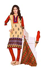 Riddhi Dresses Women's Cotton Unstitched Dress Material (Riddhi Dresses 75_Multi Coloured_Free Size)