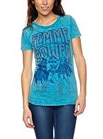 Logoshirt Camiseta Manga Corta (Azul)