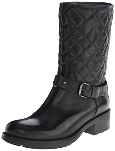 Aquatalia by Marvin K. Womens Sage Motorcycle Boot,Black