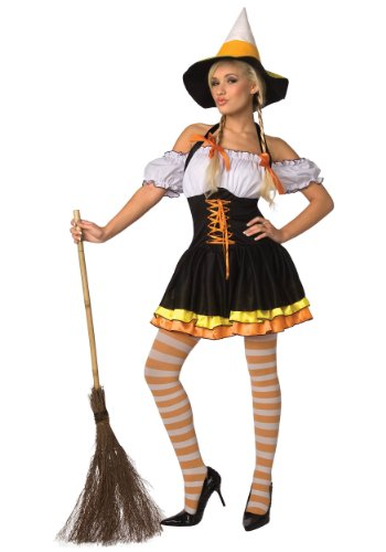 Candy Corn Adult Costume (Women's Adult Costume)