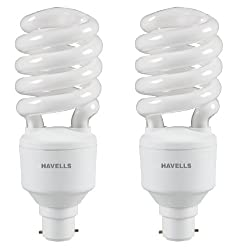 Havells SP B-22 27-Watt CFL Bulb (Cool Day Light and Pack of 2)