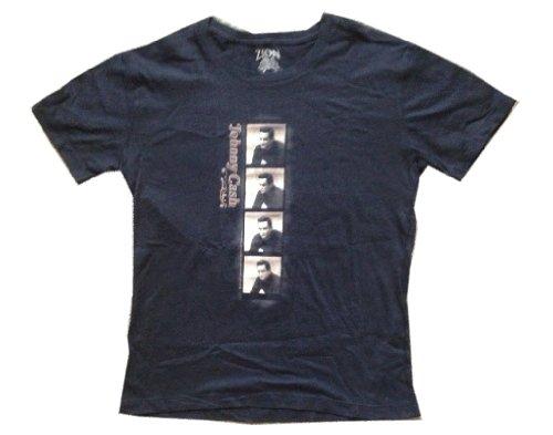 JOHNNY CASH - Photo Strip - Black Vintage Women's / Girls T-shirt (Girlie / Babydoll) - size Large