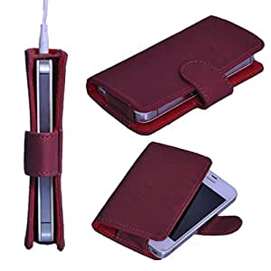 StylE ViSioN Pu Leather Pouch for Lava Iris 406Q