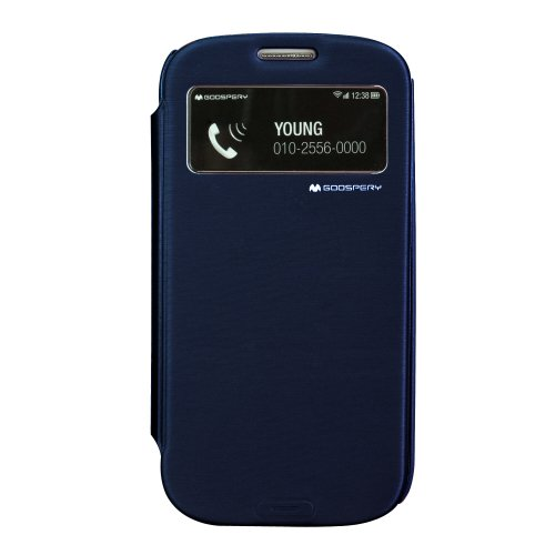 GOOSPERY - Easy View Series Case for Galaxy S3 - (Navy) - EVs3NA
