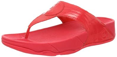 FitFlop Women's Walkstar III Thong Sandal,Hibiscus,11 M US