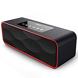 Bluetooth Speakers, Yoyamo Portable Wireless Speaker with Super Bass Stereo sound for Smart Phones, Tablet, PC(Black)