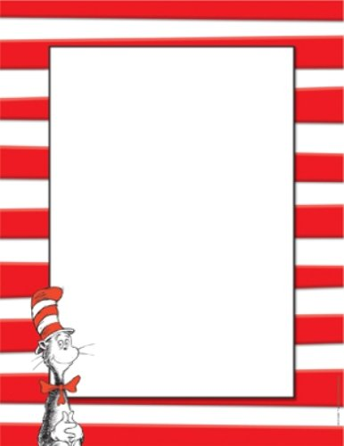 Eureka Dr. Seuss The Cat In The Hat Computer Paper, Package Of 50 Sheets (812110) front-992752