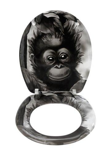 Wenko-18796100-Monkey-Toilet-Seat-Rust-Free-Stainless-Steel-Attachments-Duroplast