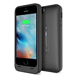 UNU Aero 2000mAh Wireless Juice Power Bank with Charging Pad for iPhone 5S - Black / Black