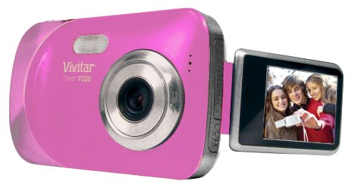 Vivitar  V7028-PNK 7.1 Digital Camera with 4.0x Optical Image Stabilized Zoom with 1.8-Inch LCD (Pink)
