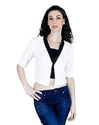 LAWMAN PG3 Women White Cotton Jackets