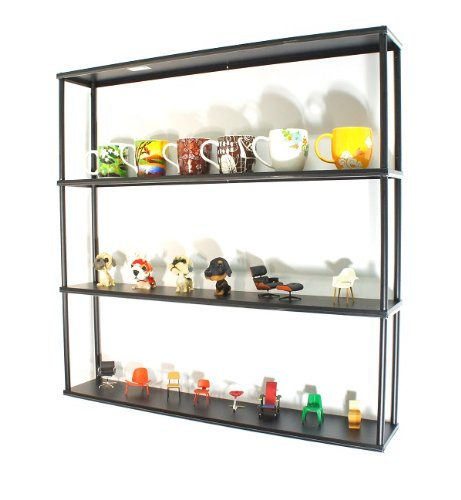 wall mounted steel shelving unit 36 h x 36 w x 6 d. Black Bedroom Furniture Sets. Home Design Ideas