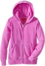 Butter Supersoft Girls 7-16 Hoodie with Bulldog, Purple, Small
