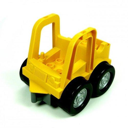1 x Lego Duplo Fahrzeug gelb Frontlader Baustelle Auto 5650