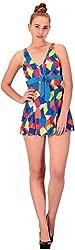 CHKOKKO Beach wear Swim Wear Swimsuits for women(YL1505_Blue, Blue, L)