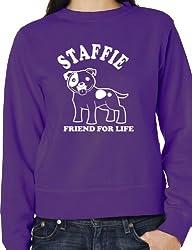 Staffie Bull Terrier Dog Lovers Sweatshirt Mens Ladies Birthday Sweatshirt S-XXL