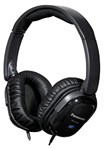 Panasonic RPHC200K Noise Canceling Headphones Black