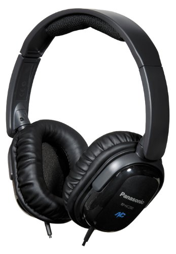 Panasonic RPHC200K Noise Canceling Headphones Black