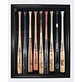 Cabinet Style 9 Bat Display Case (Black Frame) by PalmBeachAutographs.com